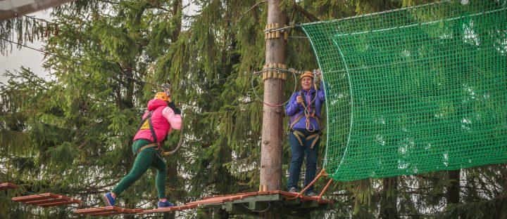 Impreza integracyjna w parku linowym w Zakopanem