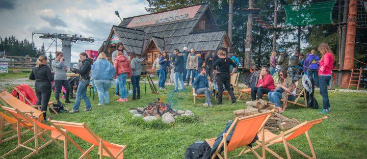 Zabawa integracyjna w parku linowym w Zakopanem