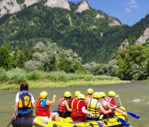 Rafting pontonami po Dunajcu